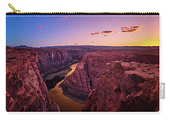 Carry-all Pouch featuring the photograph The Golden Canyon by Edgars Erglis