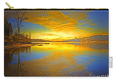 The Golden Clouds Of Winter Carry-all Pouch