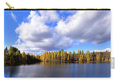 Carry-all Pouch featuring the photograph The Golden Forest At Woodcraft by David Patterson