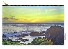 Carry-all Pouch featuring the photograph The Golden Skies Of Molokai by Tara Turner