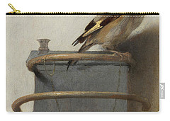 The Goldfinch, 1654  Carry-all Pouch by Carel Fabritius