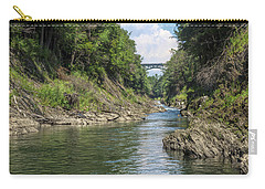 Carry-all Pouch featuring the photograph The Grand Canyon Of Vermont by John M Bailey