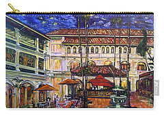 The Grand Dame's Courtyard Cafe  Carry-all Pouch by Belinda Low