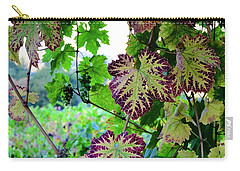 Carry-all Pouch featuring the photograph The Grape Vine by Corinne Rhode