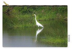 Great Egret By The Waters Edge Carry-all Pouch