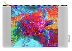 The Great Sea Turtle In Abstract Carry-all Pouch