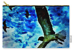 Carry-all Pouch featuring the painting The Great Seagull by Joan Reese