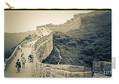 Carry-all Pouch featuring the photograph The Great Wall Of China by Heiko Koehrer-Wagner