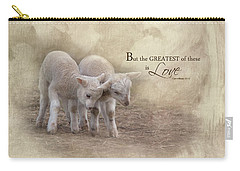 Carry-all Pouch featuring the photograph The Greatest Is Love by Robin-Lee Vieira