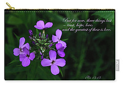 Carry-all Pouch featuring the photograph The Greatest Is Love by Tikvah's Hope