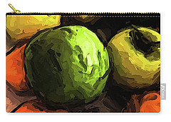 The Green And Gold Apples With The Orange Mandarins Carry-all Pouch