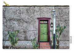 Carry-all Pouch featuring the photograph The Green Door by Lynn Geoffroy