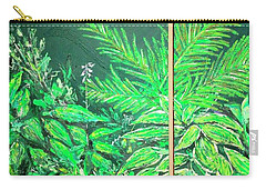 Carry-all Pouch featuring the painting The Green Flower Garden by Darren Cannell