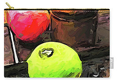 The Green Lime And The Apple With The Pepper Mill Carry-all Pouch