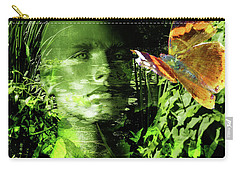Carry-all Pouch featuring the photograph The Green Man by LemonArt Photography