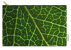 Carry-all Pouch featuring the photograph The Green Network by Ana V Ramirez