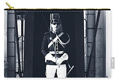 Carry-all Pouch featuring the photograph The Guard At The Palace by Lorraine Devon Wilke