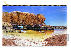 Carry-all Pouch featuring the photograph The Guardian, Two Rocks by Dave Catley