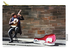 Carry-all Pouch featuring the painting The Guitarist by David Dehner