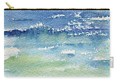 Carry-all Pouch featuring the painting The Gulf by Kris Parins
