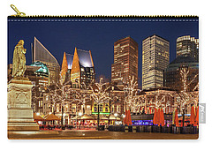 Carry-all Pouch featuring the photograph The Hague Skyline From The Plein by Barry O Carroll