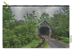 Carry-all Pouch featuring the photograph The Halpin Covered Bridge by Guy Whiteley