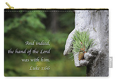The Hand Of The Lord Carry-all Pouch by Mary Lee Dereske