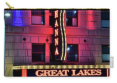 Carry-all Pouch featuring the photograph The Hanna Great Lakes Theater by Frozen in Time Fine Art Photography