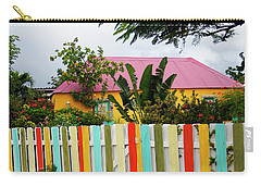 Carry-all Pouch featuring the photograph The Happy House, Island Of Curacao by Kurt Van Wagner