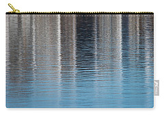 Carry-all Pouch featuring the photograph The Harbor Reflects by Karol Livote
