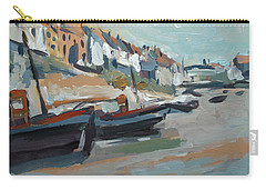 Carry-all Pouch featuring the painting The Harbour Of Mevagissey by Nop Briex