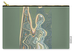 Carry-all Pouch featuring the digital art The Harp Player by Lenore Senior