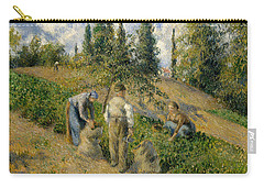 The Harvest, Pontoise, 1881  Carry-all Pouch by Camille Pissarro