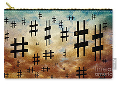 Carry-all Pouch featuring the digital art The Hashtag Storm by Andee Design