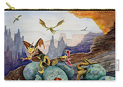 Carry-all Pouch featuring the painting The Hatchlings by Sam Sidders