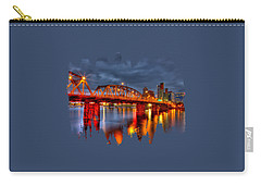 Carry-all Pouch featuring the photograph The Hawthorne Bridge - Pdx by Thom Zehrfeld