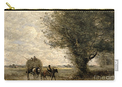The Haycart Carry-all Pouch by Jean Baptiste Camille Corot