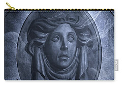 Carry-all Pouch featuring the photograph The Headstone Of Madame Leota by Mark Andrew Thomas