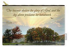 Carry-all Pouch featuring the photograph The Heavenly Morning Card by Ann Bridges