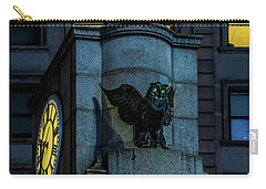 Carry-all Pouch featuring the photograph The Herald Square Owl by Chris Lord