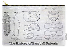 The History Of Baseball Patents Carry-all Pouch by Jon Neidert