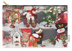 The Holiday Snowman Party Carry-all Pouch