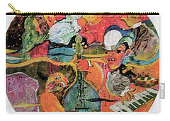 The Holland Jazz Trio Carry-all Pouch by Lee Ransaw
