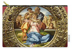The Holy Family - Doni Tondo - Michelangelo - Round Canvas Version Carry-all Pouch