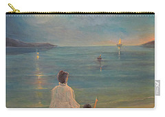 Carry-all Pouch featuring the painting The Homecoming by Donna Tucker