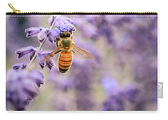 The Honey Bee And The Lavender Carry-all Pouch