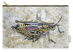 The Hopper Grasshopper Art Carry-all Pouch by Reid Callaway