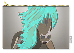 The Horse With The Turquoise Mane Carry-all Pouch