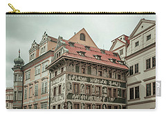 Carry-all Pouch featuring the photograph The House At The Minute With Graffiti At Old Town Square  by Jenny Rainbow