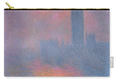 The Houses Of Parliament London Carry-all Pouch by Claude Monet